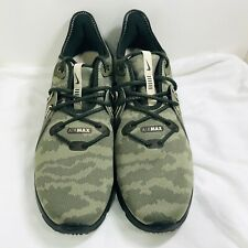New Mens Nike Air Max Sequent 3 Green Camouflage Running Shoes AR0251-201 Sz 11