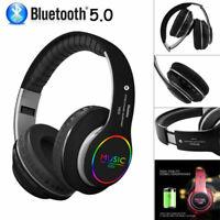 Wireless Bluetooth 5.0 Headset Noise Cancelling Headphone Fold Gaming Earphone