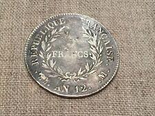 Pièce de 5Fr An 12 M argent - Bonaparte Premier Consul