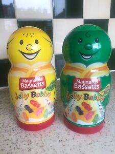 Set Of 2 Empty Maynards Bassetts Jelly Babies Sweets Biscuits Storage Boxes