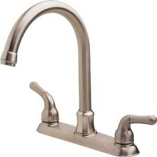 Aspen Pisa Kitchen Faucet Brushed Nickel Two Handle With Spray