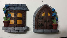 Fairy door and window set for building a fairy house