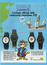 MOTOSPRINT991-PUBBLICITA'/ADVERTISING-1991- SEA WATCH COLOMBO '92