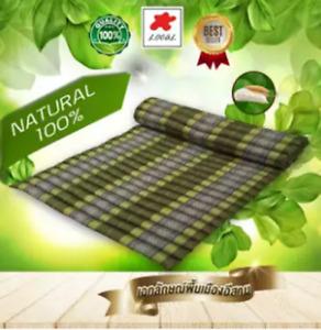 Green Kapok100%Thai Roll  Mat Fold Mat Meditatation Cushion Size XL