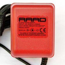 RAAD regulated power supply center negative minus tip DC 9V adapter guitar pedal