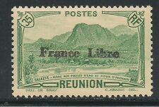 Reunion #191 (A23) - 1940 35fr Waterfowl Lake and Anchain Peak Ovpt France Libre