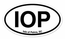 "IOP Isle of Palms SC South Carolina Oval car window bumper sticker decal 5"" x 3"""