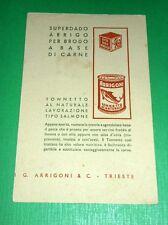 Cartolina Pubblicità Prodotti Alimentari Arrigoni - Trieste 1938