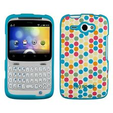 Speck For HTC Status Fitted Polka Dot Turquoise Fabric Case and Cover SPK-A0569