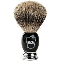 Parker Black & Chrome Handle 100% Pure Badger Handmade Shaving Brush- 22 mm Knot