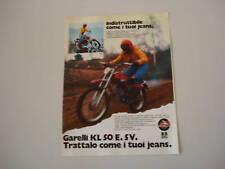 advertising Pubblicità 1974 MOTO GARELLI KL 50 E. 5V.