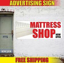 Mattress Shop Now Open Advertising Banner Vinyl Mesh Decal Sign Furniture Bed
