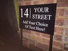 FREESTANDING MODERN HOUSE SIGN DOOR NUMBER ADDRESS PLAQUE BUSINESS POST SIGN