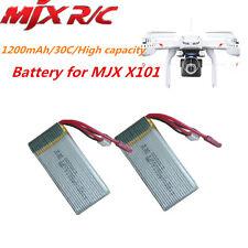 2 unidades 7.4V 1200mAh 30C Lipo Repuesto Batería Para MJX X101 Cuadricóptero A2