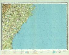Russian Soviet Military Topographic Maps - CHARLESTON (USA), 1:1M, ed. 1969