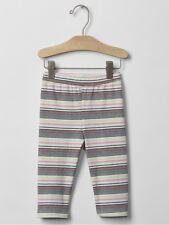 Baby Gap Girl Capri Leggings Pants Bottom Multi Stripe White Size 12-18 Months