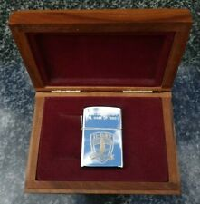 ZIPPO, D DAY, NORMANDY 50 YEARS LIGHTER, SILVER PLATED, GOLD INLAY ((VERY RARE))
