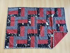 Patchwork Blanket - Baby Child Red Star Wars Quilt Throw Homemade