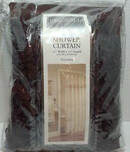 "Croscill Home Tailored Macrame 72""x72"" Fabric Shower Curtain Plum (Deep Purple)"