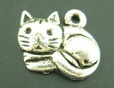 25 Pendentifs Breloques Charms Chat adorable 15*13mm