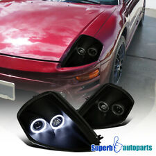 For 2000-2005 Mitsubishi Eclipse Black Smoke L+R LED Halo Projector Headlights