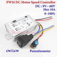 DC 12V 24V 36V 48V PWM Motor Speed Control Switch Controller 10A CW CCW Reverse