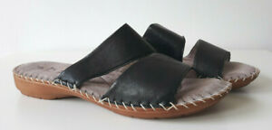 JANA Damen Pantolette Sandale Slipper Leder schwarz Weite H Gr. 38
