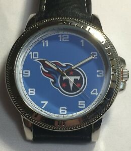 New Tennessee Titans Sparo Classic Men's Sports Watch with Black Leather Band