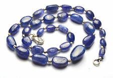 NATURAL TANZANITE SMOOTH NUGGETS  BIG BEADS NECKLACE 8.5 TO 17 MM 17 inch
