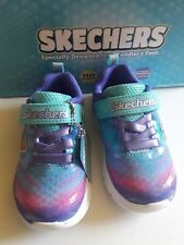 Skechers Skech-Lite Colorful Cutie Sneaker, Toddler Girls Size 5. nib