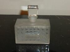 """VINTAGE CHRISTIAN DIOR MISS DIOR EMPTY FROSTED PERFUME BOTTLE 3"""" H X 2 3/4"""" W"""