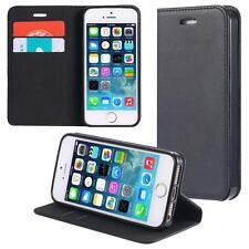 Custodia per Apple iPhone SE / 5 5S Cover Case Portafoglio Wallet Etui Nero