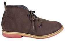 TOMMY HILFIGER Youth Size 2 Shoes Dark Brown Suede MICHAEL Chukka