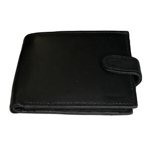 Mens black leather wallet New