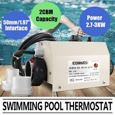 3kw Pool Heater Thermostat Water Heater 50mm Interface Spa Swimming Pool Bath