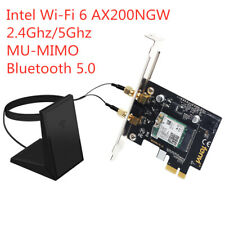 Desktop PCI-E WiFi 6 Card Intel AX200 802.11ax Dual Band Bluetooth 5.0 2400Mbps