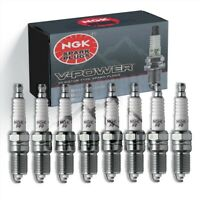 New 8 pcs NGK 6630/UR4 V-Power Spark Plugs - Fast Free Shipping!