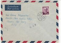 czechoslovakia 1948 airmail stamps cover ref 19650