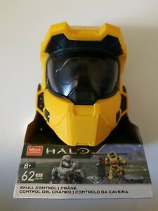 Mega Construx Halo Skull Control GWY99 Yellow Spartan Helmet New IN BOX FREE S/H