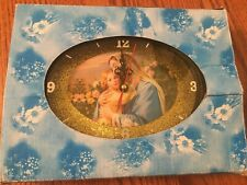 """Mary with Jesus as young child Desk Clock - Battery Operated - 8 1/2"""" x 6 3/4"""""""
