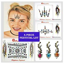 FESTIVAL FACE GEM Job lot- BINDI-Stick On- Rainbow TATTOO -GLITTER BODY JEWEL B
