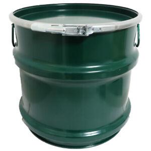 30 Liter Stahlblech-Hobbock / Blechfass mit Deckel / Hobbock NEU grün