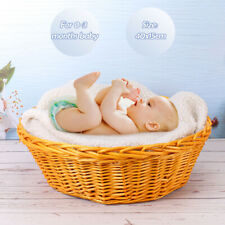 Newborn Baby Photography Round Basket Backdrop Photo Pose Shooting Supply Props
