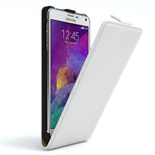 Tasche für Samsung Galaxy Note 4 Flip Case Schutz Hülle Cover Weiß