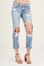 Nwt $249 True Religion women's Cameron slim boyfriend jeans Bad Girl sz 28