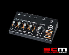 4 CHANNEL MINI MIXER - LEEM WAM-290 4 x 6.3mm INPUTS BATTERY OR AC POWER NEW!