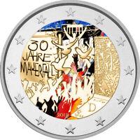 2 Euro Gedenkmünze BRD 2019 Mauerfall coloriert / Farbe / Farbmünze / Berlin 2
