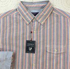 CREMIEUX Men's L/S Shirt L Large Multi-Color Striped Seersucker NWT $79+ New