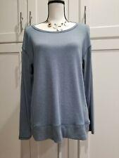 Danskin Women's Sweatshirt Top Blue Long Sleeve Size L 12-14