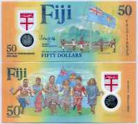 Fiji 50 Dollars ND 2020 Independence 50th P new Polymer UNC